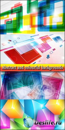 Абстрактные и красочные фоны в векторе