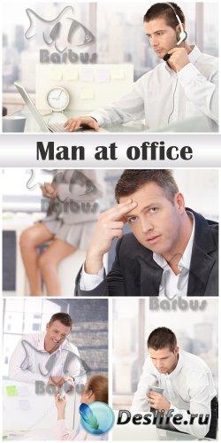 Man at office / Мужчина в офисе - photo stock
