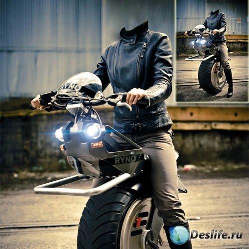 Женский костюм - на последнем электромотоцикле