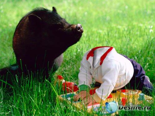 Детский костюм - встреча с животными