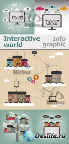 Interactive world -  info graphic / Интерактивный мир - инфо графика