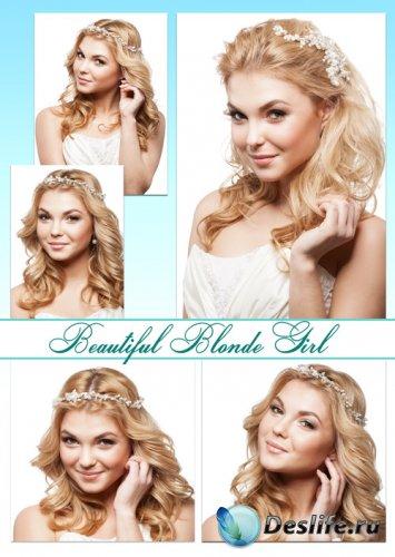 Очаровательная блондинка, светловолосая девушка - растровый клипарт