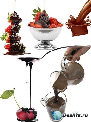 Шоколад топленый - подборка изображений