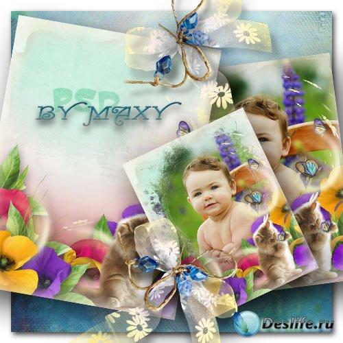 Рамка на яркое детское фото - Сплошной позитив