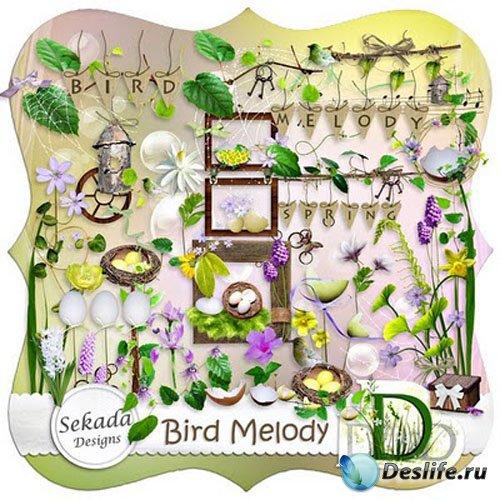 Весенний скрап-набор - Птичьи трели