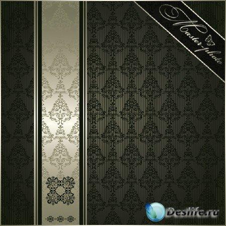 Многослойный декоративный черный фон для фотошопа