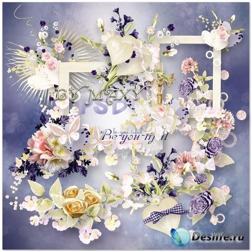 Клипарт цветочный - Композиции для дизайна свадебных фото