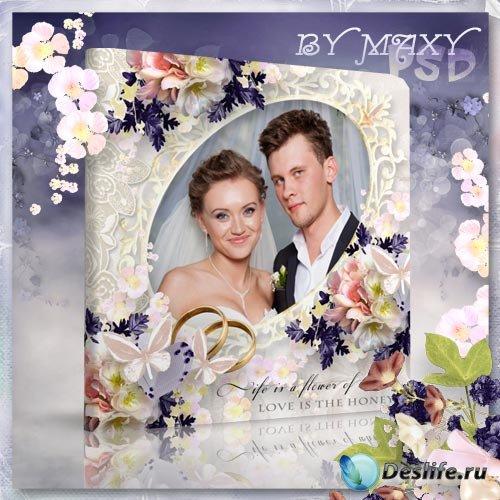 Фотоальбом свадебный дизайн - Свадьба с цветами