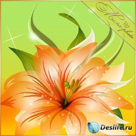 Многослойный исходник для фотошопа - Волшебный цветок