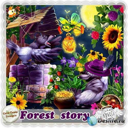 Детский сказочный скрап-набор - Лесные истории