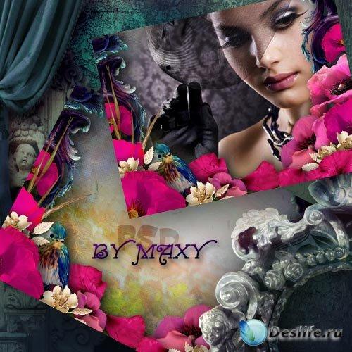 Фоторамка с цветами - Маковая роскошь