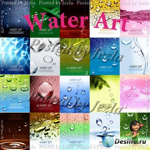 PSD Исходники - Poster Water Art