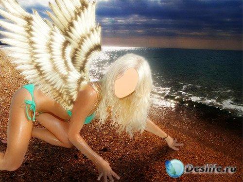 Женский костюм для фотошопа - Девушка с крыльями