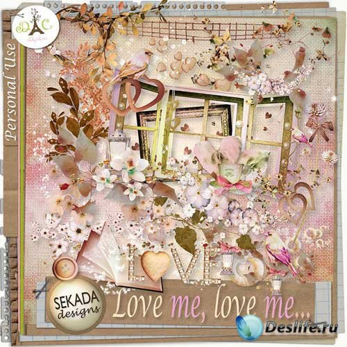 Романтический скрап-набор - Люби меня,люби