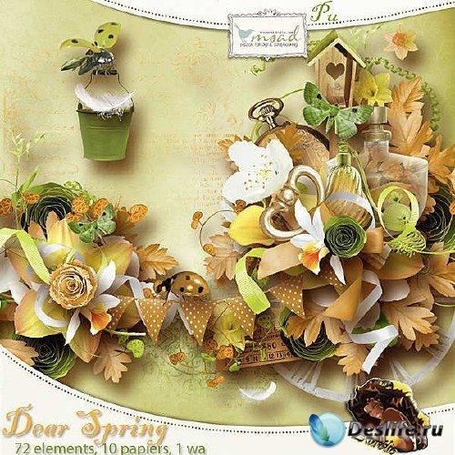 Скрап-набор - Дорогая весна