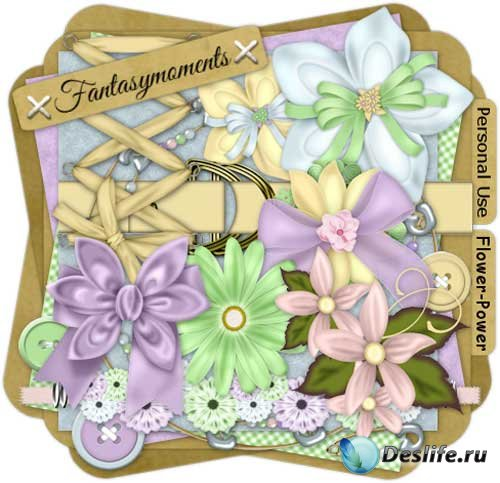 Цветочный скрап-набор - Сила цветов