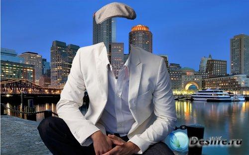 Костюм для фотошопа  - Мужчина в кепке
