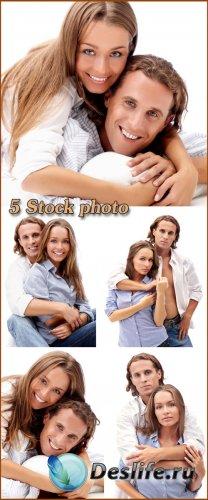 Красивая пара, мужчина и женщина - растровый клипарт