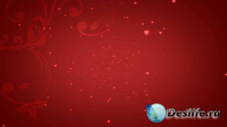 Романтический футаж - Маленькие сердечки