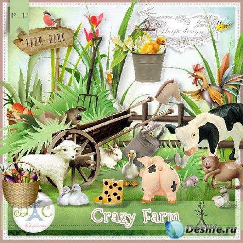 Цифровой скрап-набор - Crazy Farm