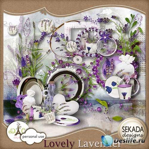 Симпатичный цветочный скрап-набор - Дивная лаванда