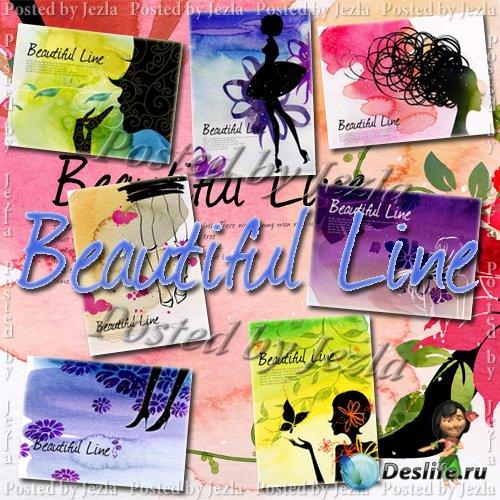 PSD Исходники - Poster Beautiful Line