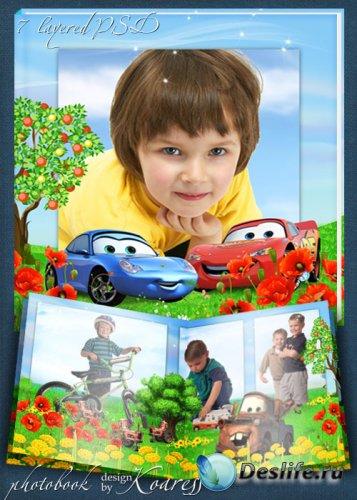 Детская фотокнига с героями мультфильма Тачки - Лето в Радиатор Спрингс