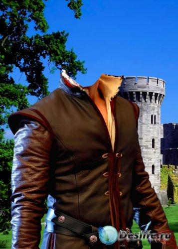 Костюм для фотошопа  - Принц возле замка