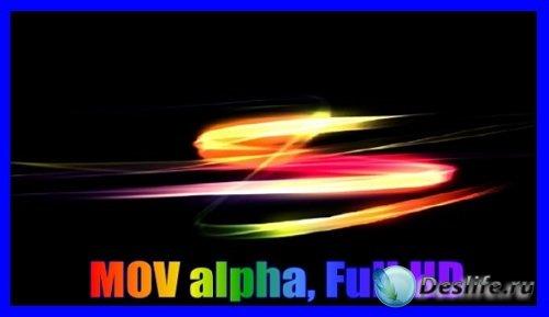 HD футаж Цветные штрихи (alpha)