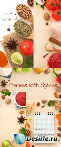 Фоны - рамочки из специй / Frame backgrounds spices - Stock photo
