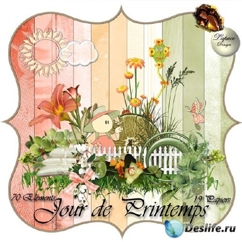 Весенний скрап-набор - Весенний день