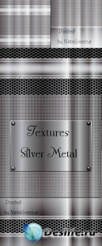 Текстуры - Серебряный метал в Векторе / Textures Silver metal in Vector