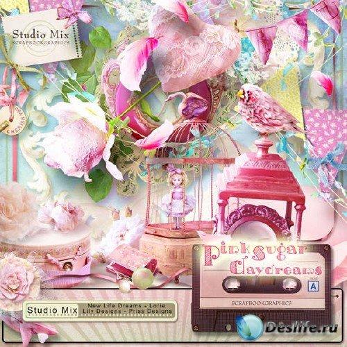 Винтажный скрап-комплект - Pink Sugar Daydream