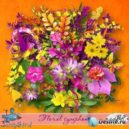 Цветочный скрап-набор - Floral Symphonie