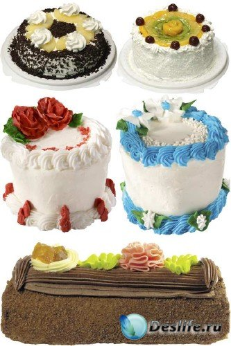 Сладкие торты - подборка стоковых изображений (часть третья)