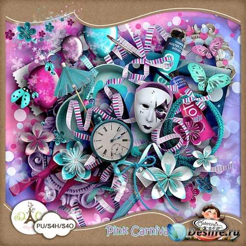 Праздничный скрап-набор - Розовый карнавал