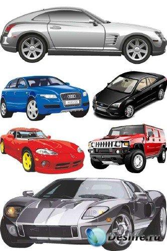 Современные автомобили в векторе