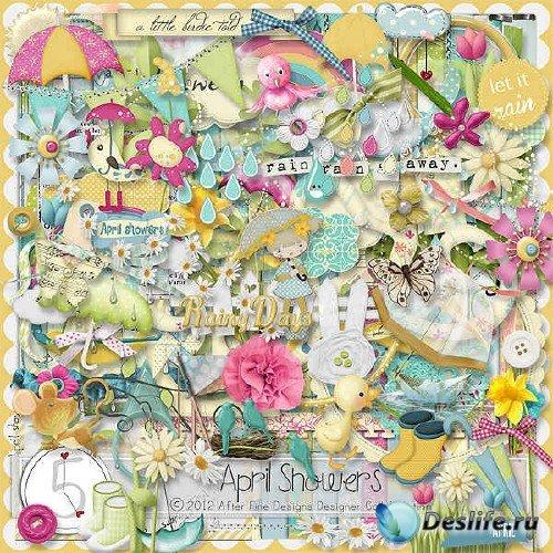 Цифровой скрап-комплект - April showers