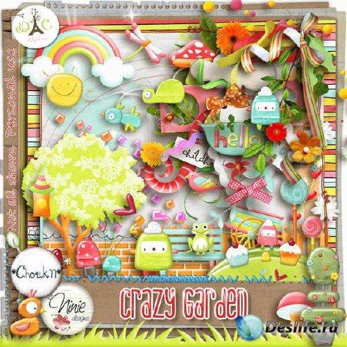 Яркий скрап-комплект - Crazy Garden