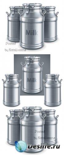 Алюминиевые бидоны в Векторе / Vector clipart - Aluminum cans
