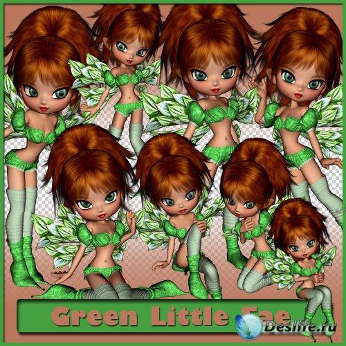 Сказочный набор для скрапбукинга - Маленькая зелёная фея