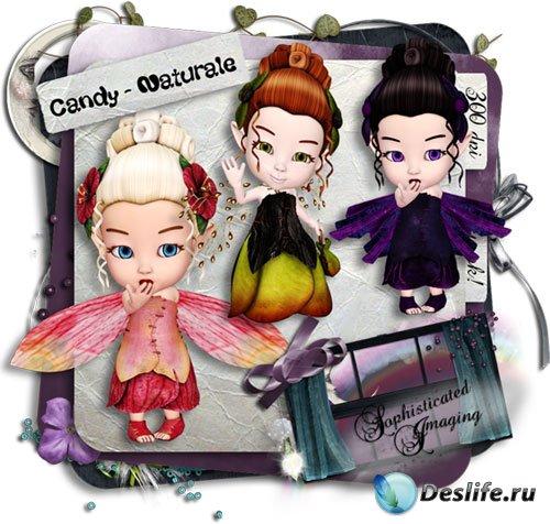 Сказочный набор с феями для скрапбукинга - Candy Naturale