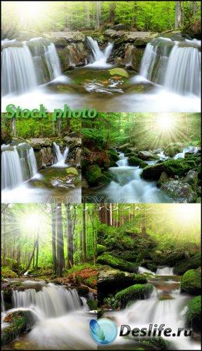 Пейзажи с водопадами / Waterfalls, nature