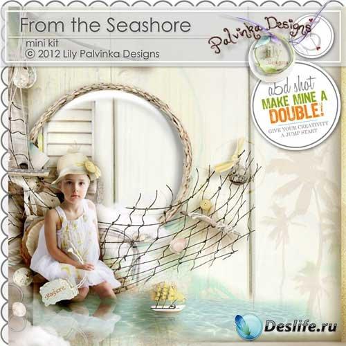 Морской набор для скрапбукинга - На берегу моря