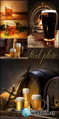Пиво, бочка с пивом / Beer, wine glasses of beer, barrels of beer - Raster  ...