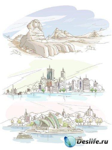 Города и страны в векторе (часть вторая)