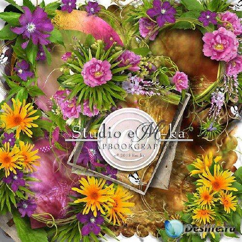 Цветочный скрап-комплект - Secret Garden