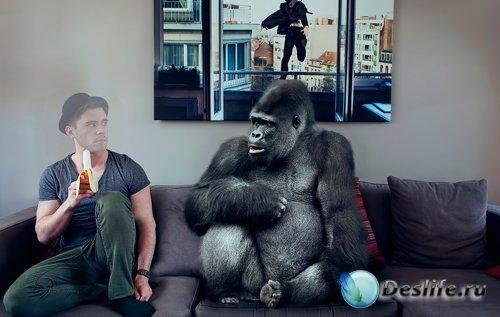 Костюм для фотошопа  - Парень и горилла