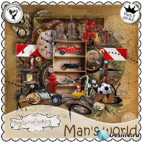 Цифровой скрап-комплект - Man's world