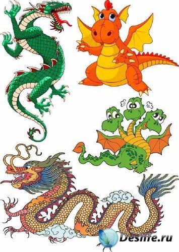Векторные драконы - подборка клипарта